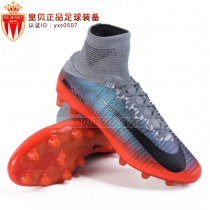 皇贝足球NIKE Mercurial SF V CR7 AG刺客高端足球鞋男852510 001