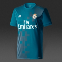 Adidas Real Madrid 17/18皇马第二客场球迷版短袖球衣 BR3539