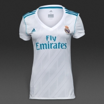 Adidas Real Madrid 17/18皇马主场球迷版女款短袖球衣 B31110