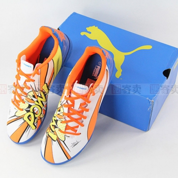 【偶寄卖 SS级 US8.5=EUR41=JP265】PUMA evopower 4.2 POP TT碎钉足球鞋103651-01